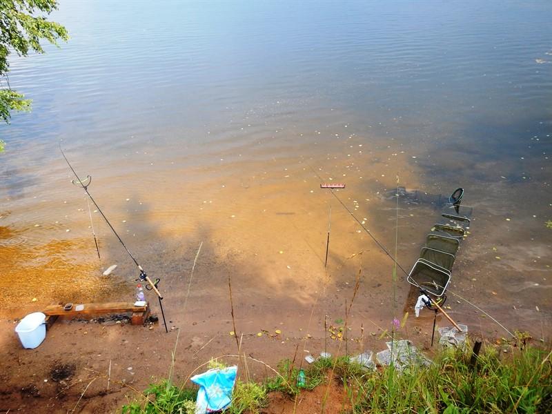 фидерная ловля на озере велье