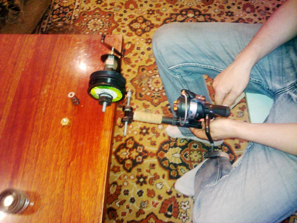 как намотать шнур на катушку фидера