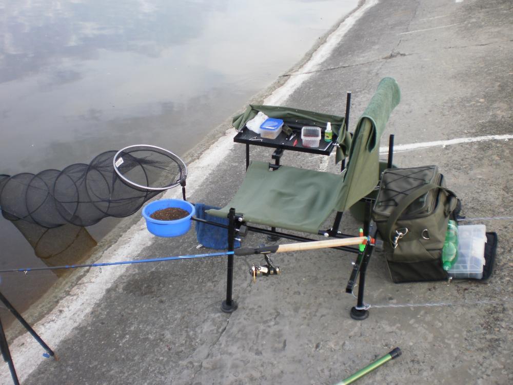 карповое кресло для рыбалки с обвесом
