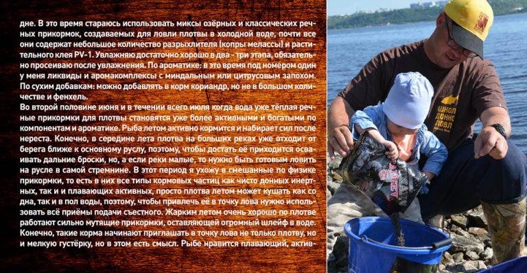 прикормка для плотвы летом на реке